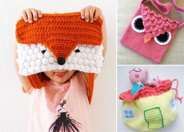 Fun Crochet Bags For Kids Free Crochet Patterns Featured