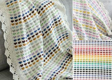 I Love Scraps Baby Blanket Free Crochet Pattern