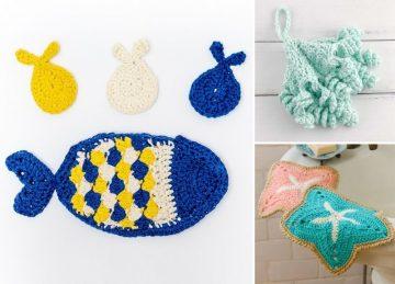 Sea Inspired Crochet Dishcloths
