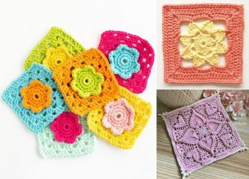 Stunning And Simple Lacy Squares
