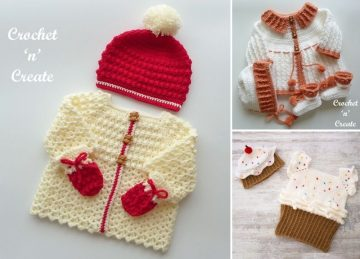 Sweet Crocheted Baby Sets