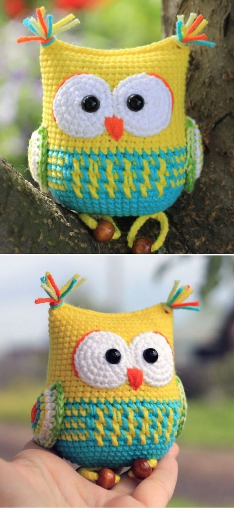The owl rattle toy