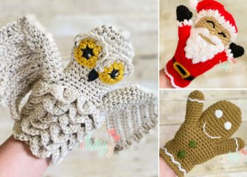Cute Crochet Hand Puppets