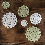 Citrus Blossom Crochet Coasters