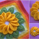 12 Petals Crochet Flowers Free Pattern