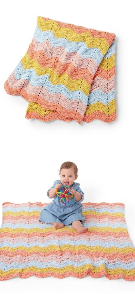 Zig and Zag Baby Blanket