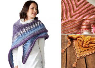 Gorgeous Flattering Crochet Shawls