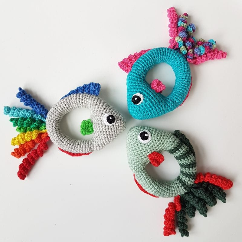 Fish Rattle Free Crochet Pattern