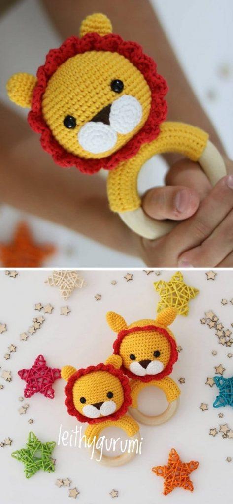 Leon Baby Rattle Free Crochet Pattern