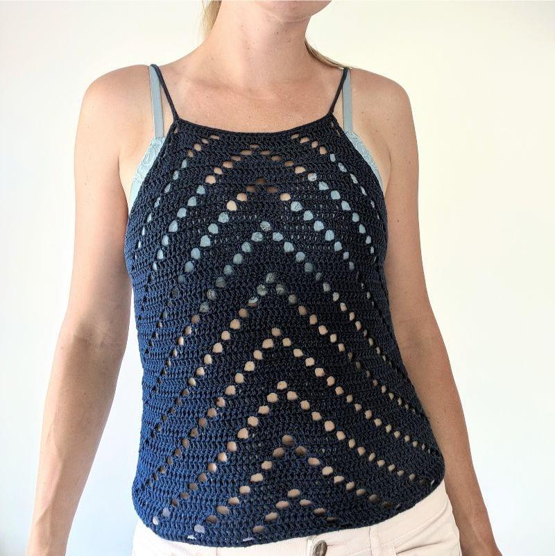 Peaks Tank Top Free Crochet Pattern