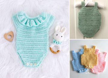 Sweet Crochet Baby Rompers