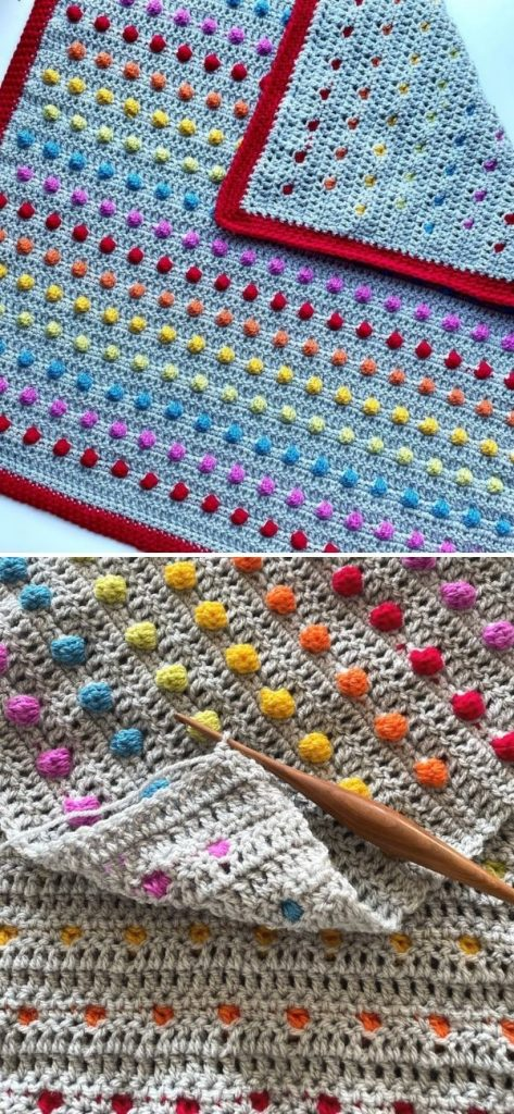 Smarties Bobble Blanket Paid Pattern