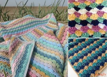 Amazing Shell Blankets Free Crochet Pattern