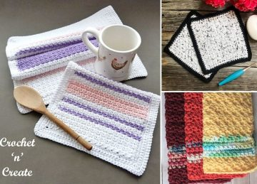Fun Crochet Dishcloths for Spring