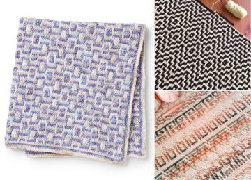 Intricate Colorful Crochet Mosaic Blankets