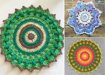 Lovely Vibrant Crochet Doilies