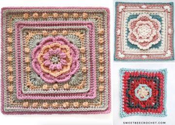 Sweet Crochet Mandala Squares