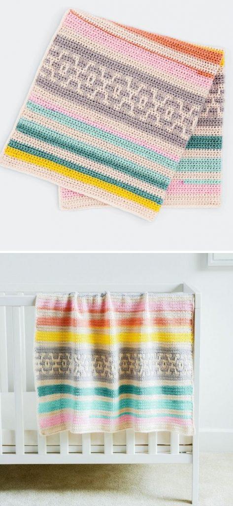 Geo Baby Blanket