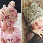 Baby Bear Knitted Hats