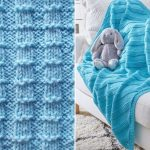 Blue Knitted Baby Blankets