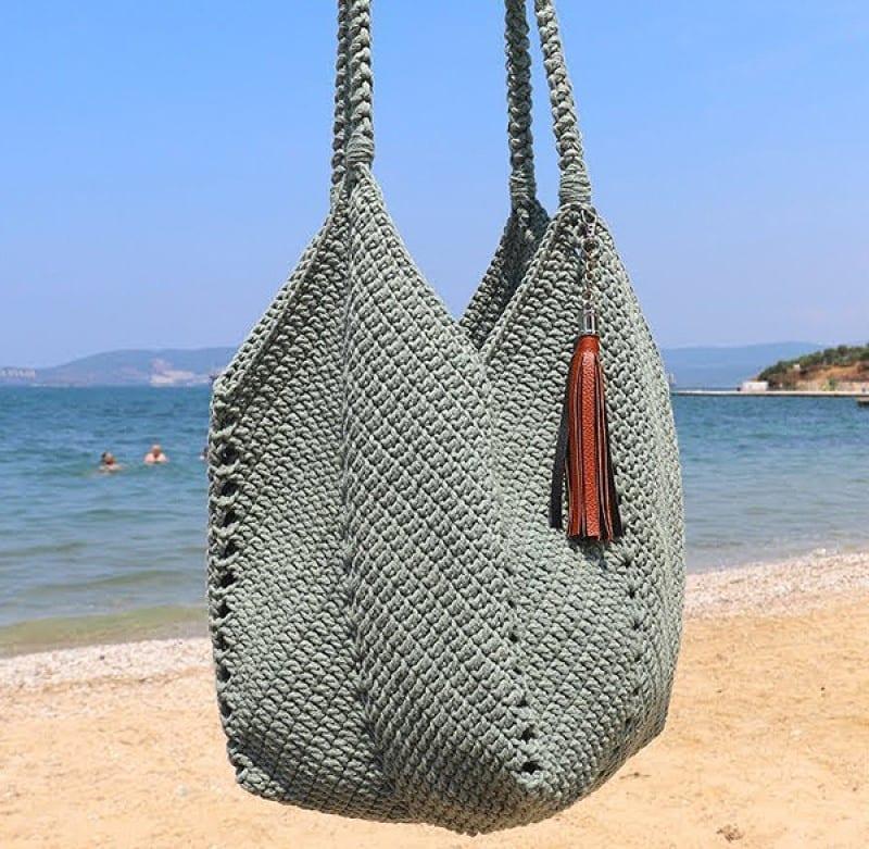 Saco de verão em crochê padrão grátis