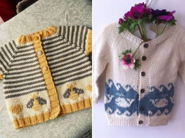Cute Knitted Colorwork Cardis