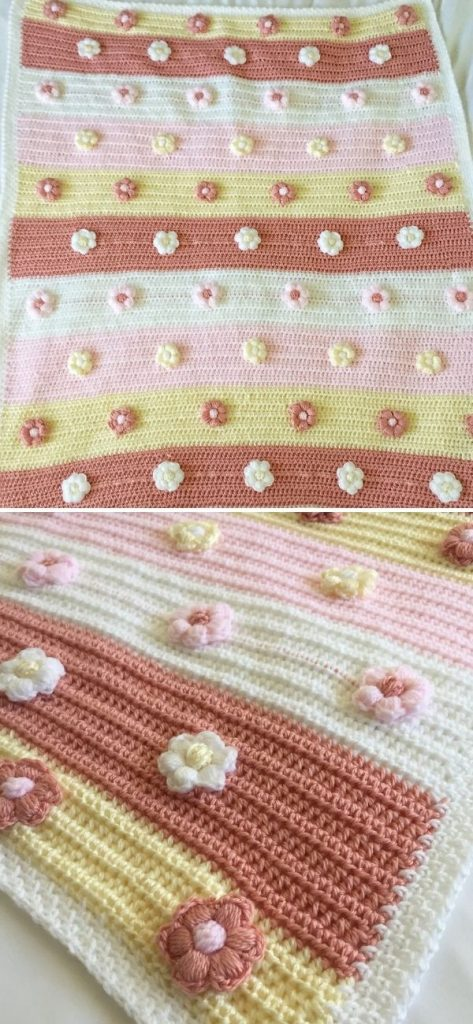 Blossoms Bloom Baby Blanket