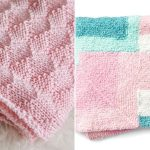 Delicate Knitted Pastel Blankets