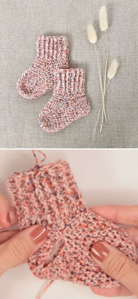 Crochet Baby Socks - Little Bunny