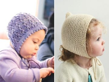 Easy Knitted Bonnets