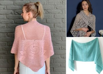 Delicate Filet Crochet Shawls