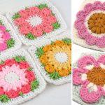 Floral Crochet Squares – Free Patterns