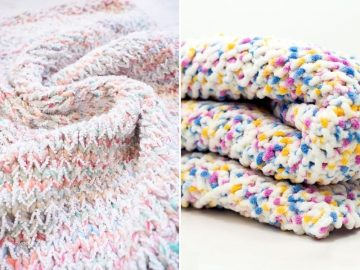 Fluffy Knitted Baby Blankets