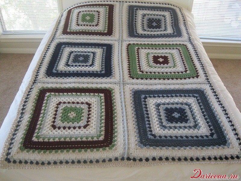 Giant Granny Square Bedspread Free Crochet Pattern
