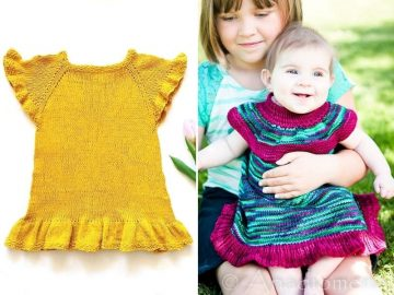 Girly Knitted Baby Dresses