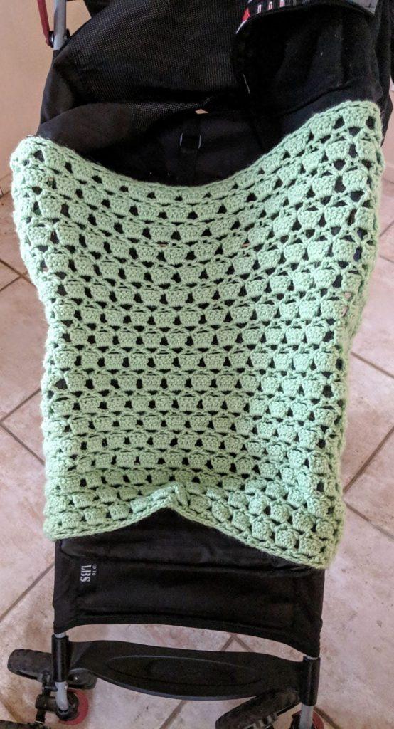 Green Thumb Stroller Blanket Free Crochet Pattern