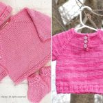 Pink Knitted Baby Pullovers