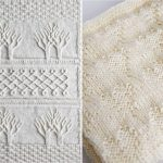 White Knitted Baby Blankets