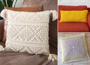 Gorgeous Textured Colorful Crochet Pillows