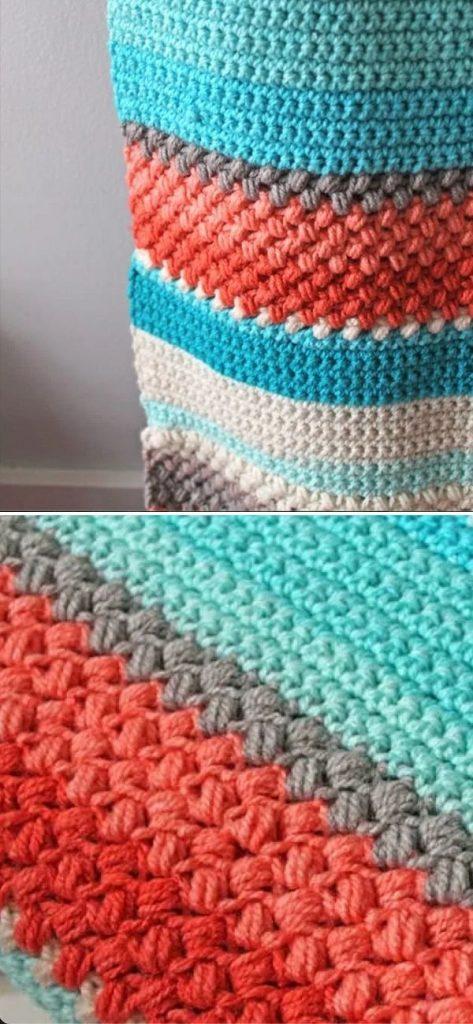 Bean Stitch Crochet Blanket Pattern – Warm & Cool