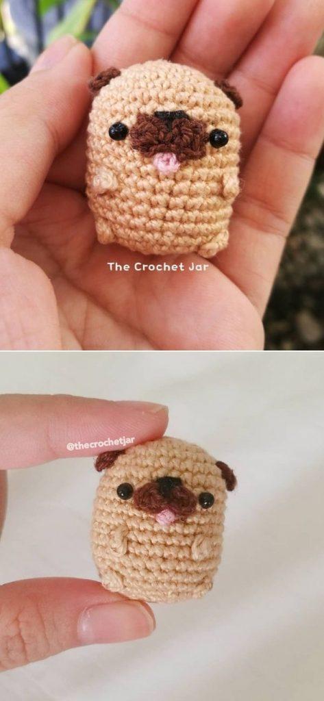 A tiny pug