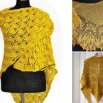 Beautiful Golden Knitted Shawls