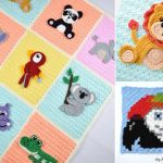 Cute Animal Crochet Baby Blankets