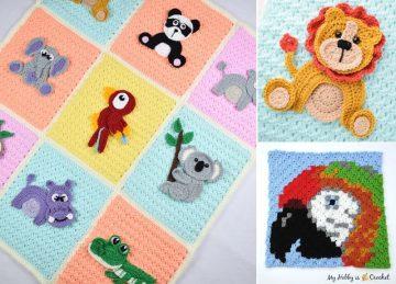 Animal Crochet Baby Blankets