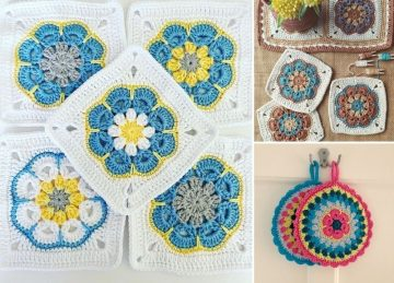 Beautiful African Flowers Crochet Pattern Ideas