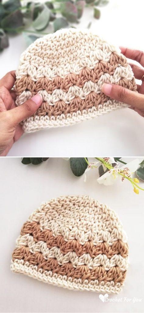 Cluster V Stitch Baby Hat
