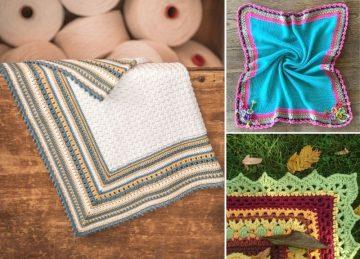 Cute Baby Blankets with Nice Crochet Edgings