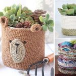 Cute and Useful Crochet Baskets