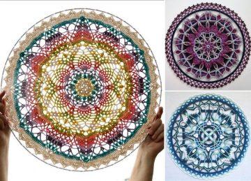 Decorative Crochet Hoop Mandalas