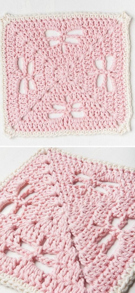 Dragonfly Delight Dishcloth free crochet pattern 1